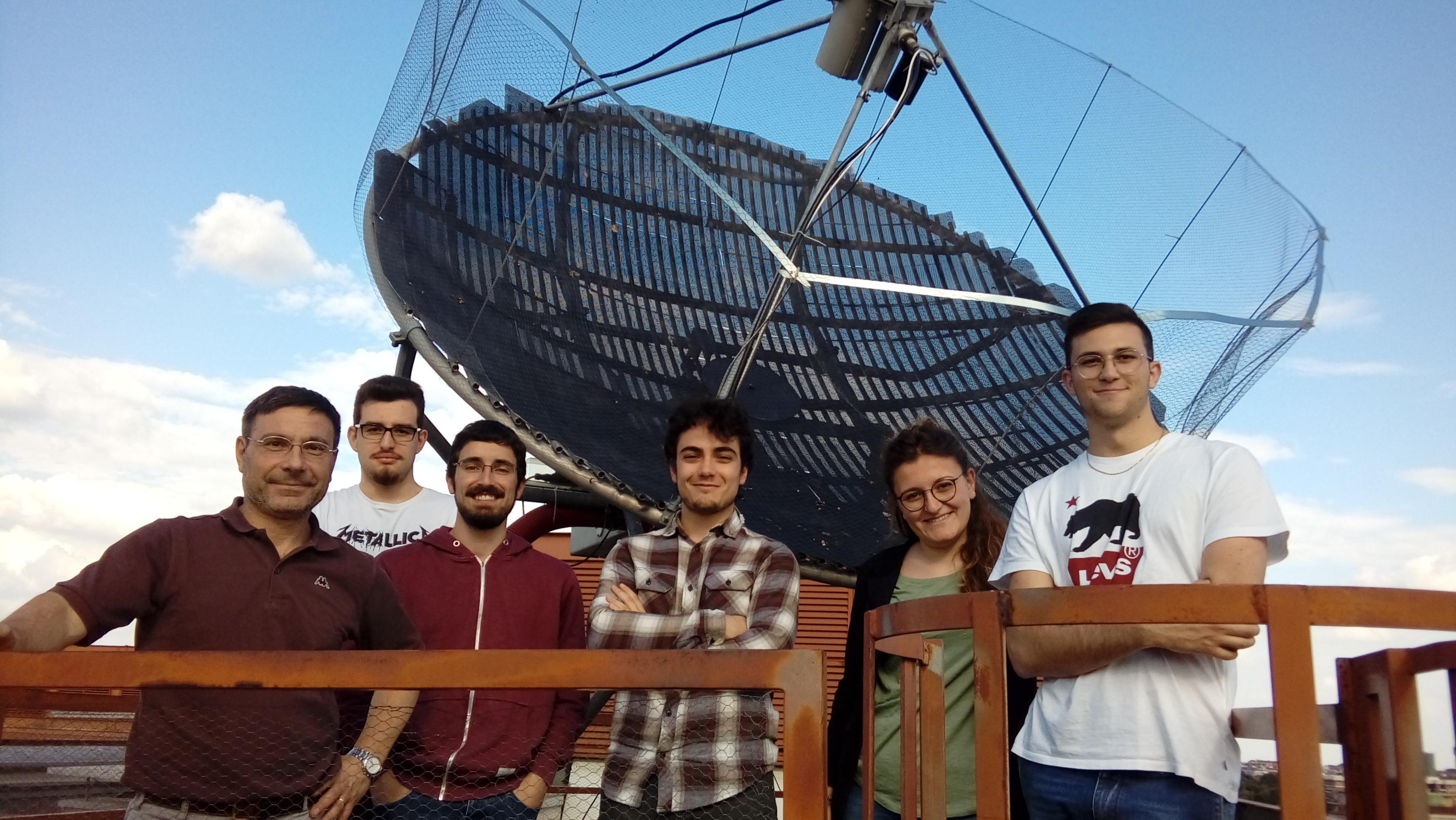 Parabola del laboratorio di astrofisica (Esperimentazioni di Astrofisica, III anno laurea in Fisica)