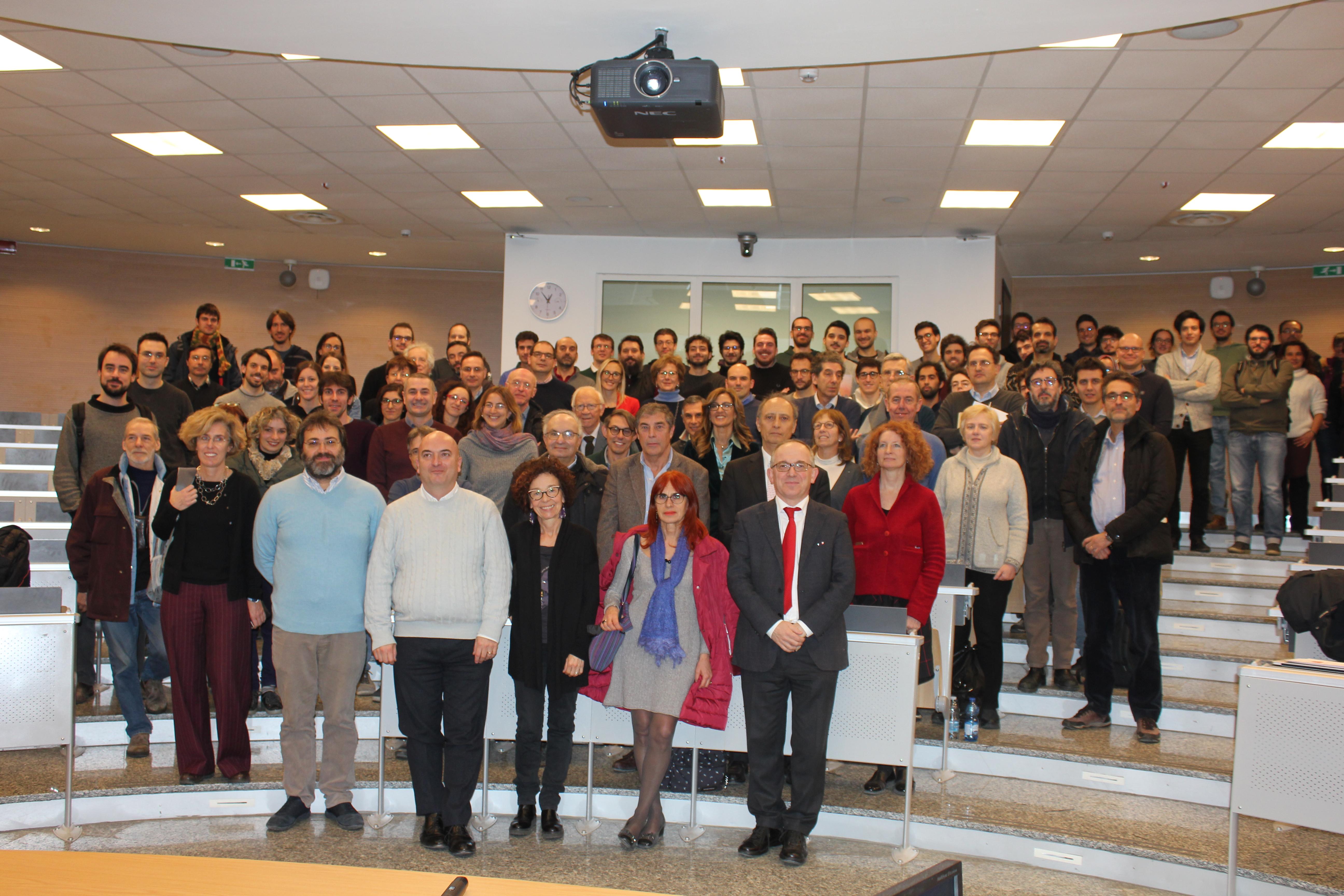 """Foto di gruppo in occasione del workshop """"Fisica in Bicocca"""" del 18 dicembre 2018"""