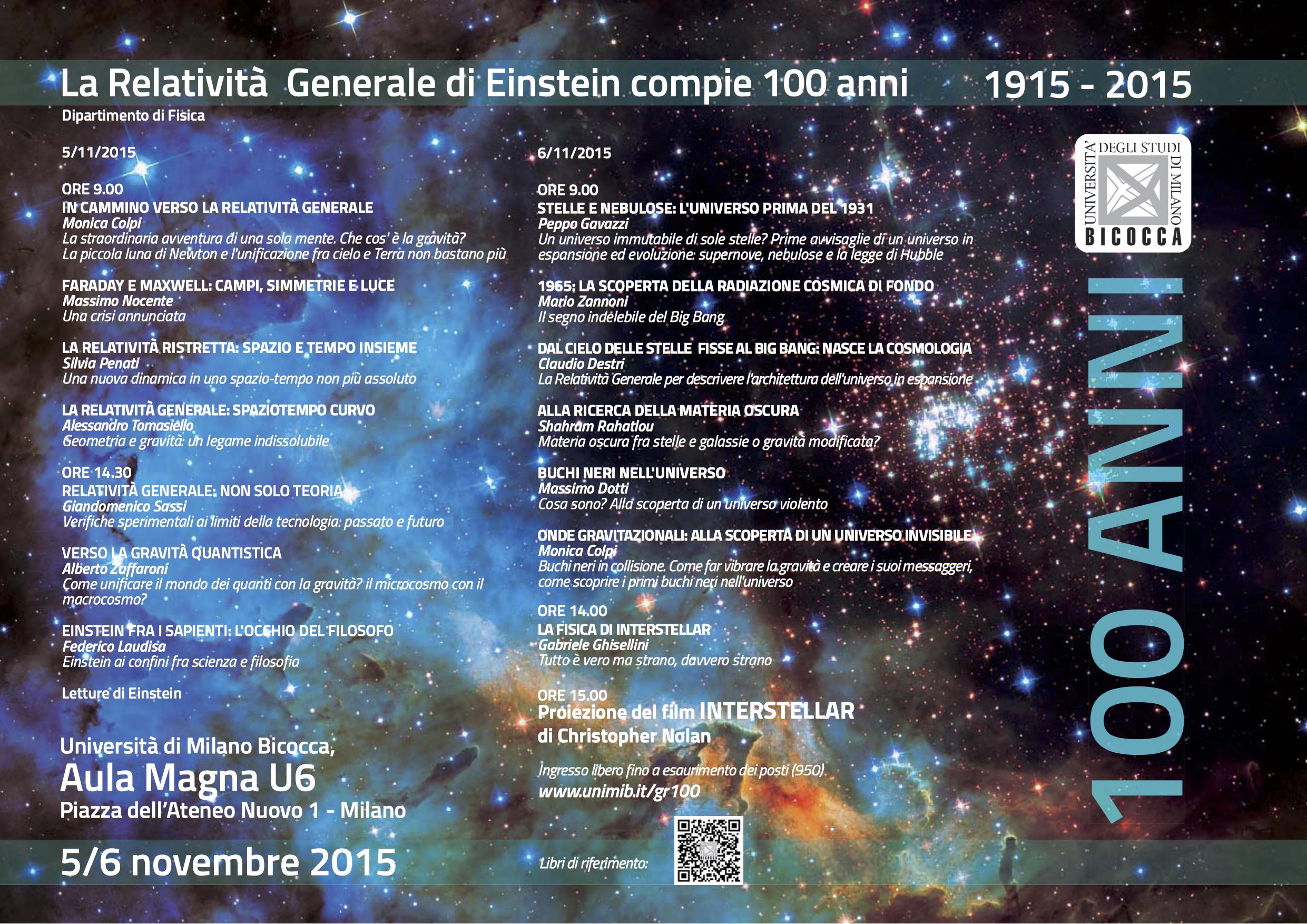 Programma evento GR100