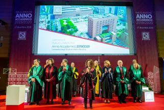 Inaugurazione dell'Anno Accademico 2019/2020: Rettrice e Direttori di Dipartimento