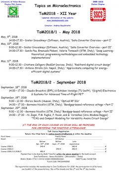 PhD course Topics on Microelectronics poster